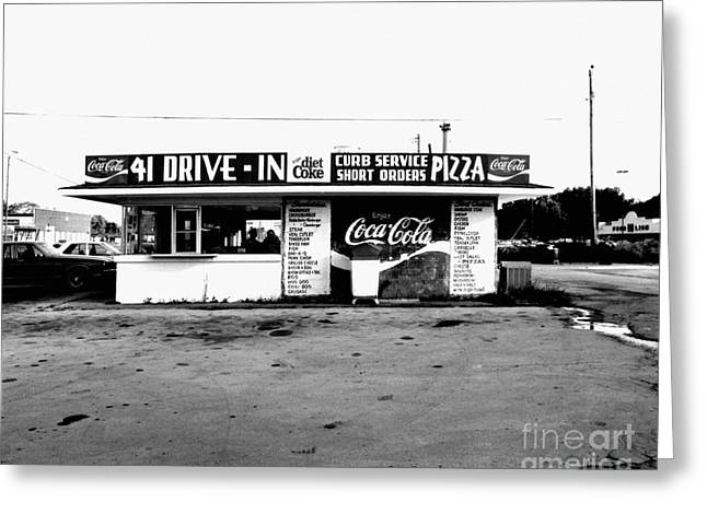 41 Drive In-manchester Tennessee Greeting Card by   Joe Beasley