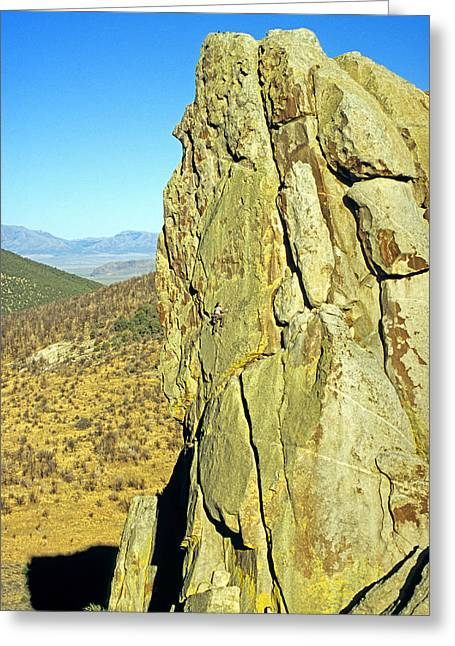 Rock Climb Greeting Card by Elijah Weber
