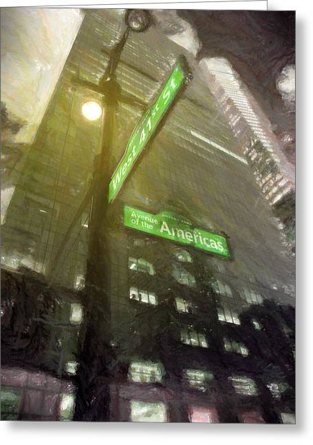 41 Street Greeting Card