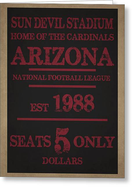 Arizona Cardinals Greeting Card by Joe Hamilton