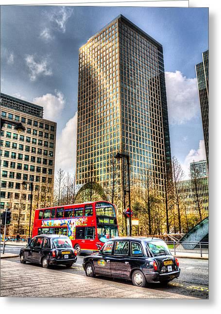 Canary Wharf London Greeting Card by David Pyatt