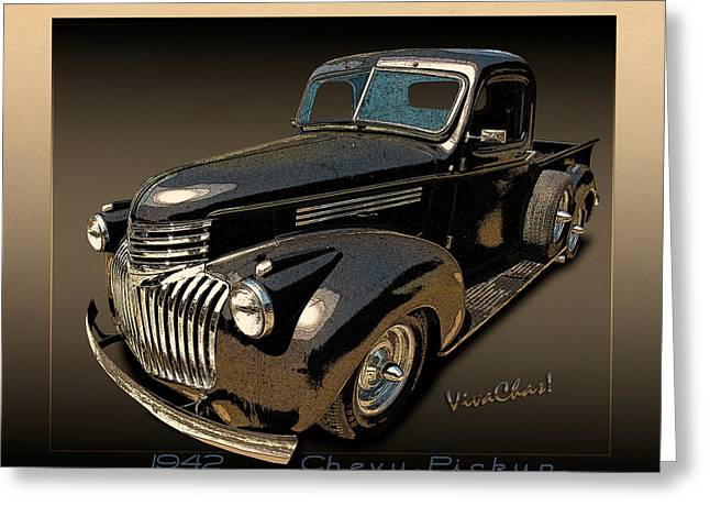 42 Chevy Pickup Rat Rod Greeting Card