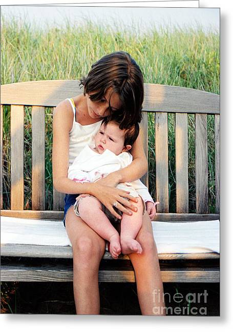 #421 7a Love Makes A Family    Family Love Greeting Card by Robin Lee Mccarthy Photography