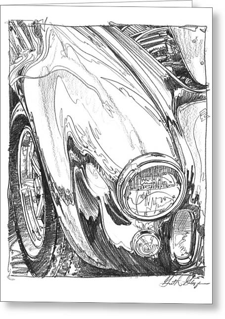 427 Cobra Study Greeting Card