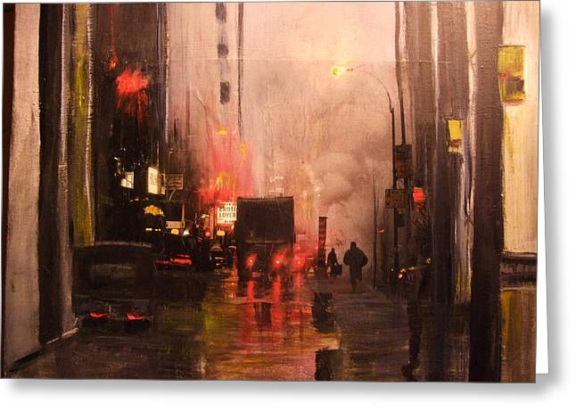 42nd And Broadway Ny Ny Greeting Card