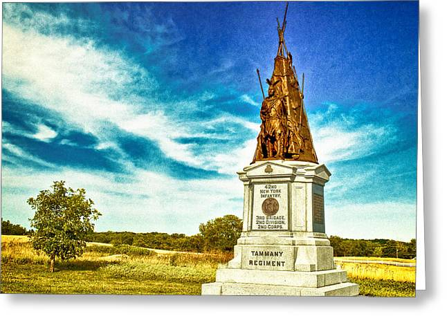 42nd New York Infantry Memorial Gettysburg Battleground Greeting Card by Bob and Nadine Johnston