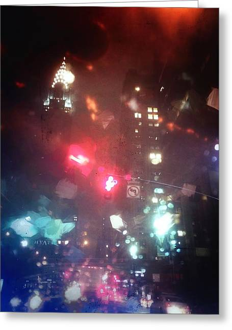 42nd Street 6 Am Greeting Card by H James Hoff