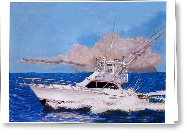 Storm Chasing On The High Seas Greeting Card by Jack Pumphrey