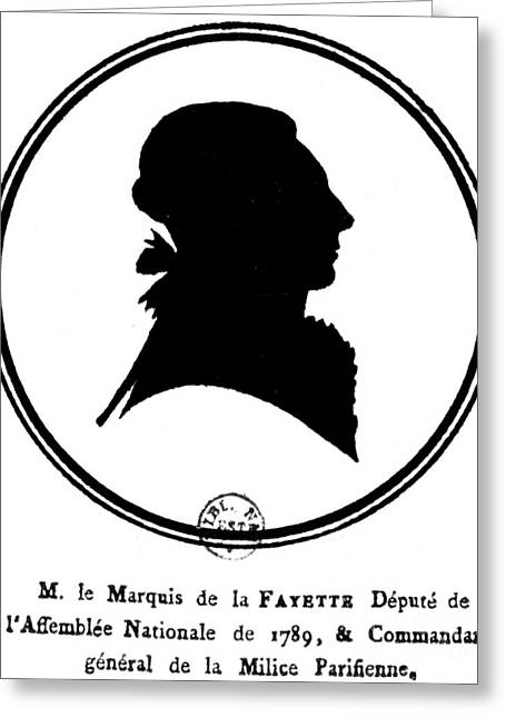 Marquis De Lafayette Greeting Card by Granger