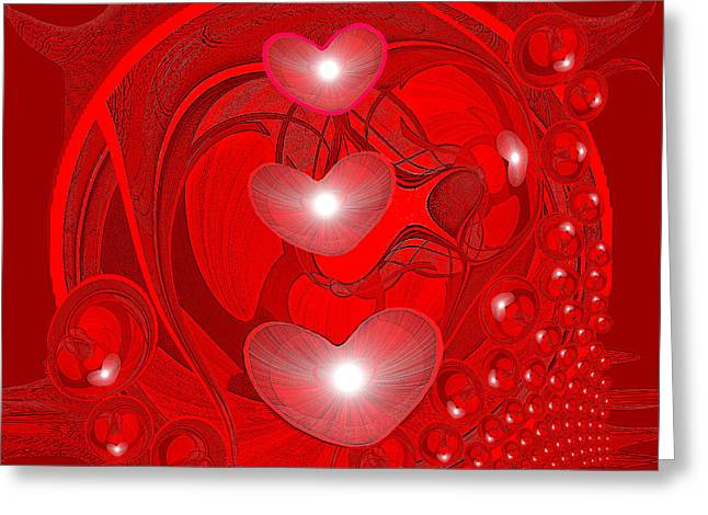 438 - Love Inside Greeting Card by Irmgard Schoendorf Welch