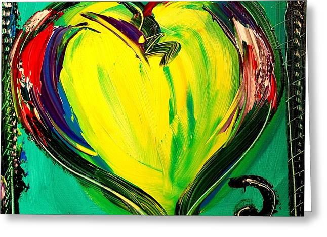 Heart Greeting Card by Mark Kazav