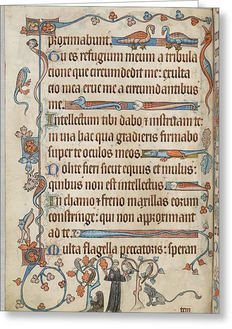 Luttrell Psalter Greeting Card by British Library