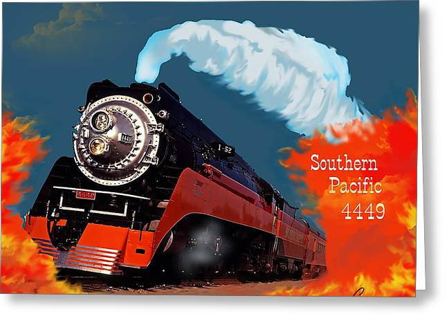 4449 Through The Fire Graphic Greeting Card