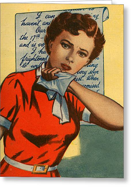 1950s Uk Illustrations Magazine Plate Greeting Card by The Advertising Archives