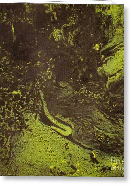 Hard Rock Inspired Color Of Natur Greeting Card by Bozena Simeth