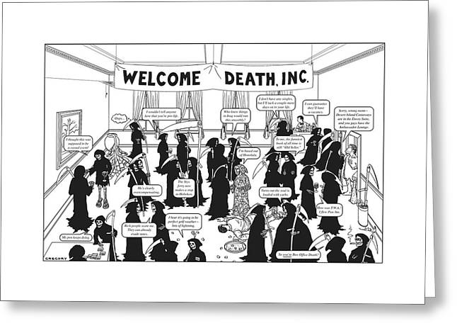 Welcome Death Greeting Card