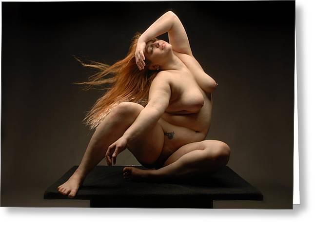 4541 Full Figured Nude Greeting Card