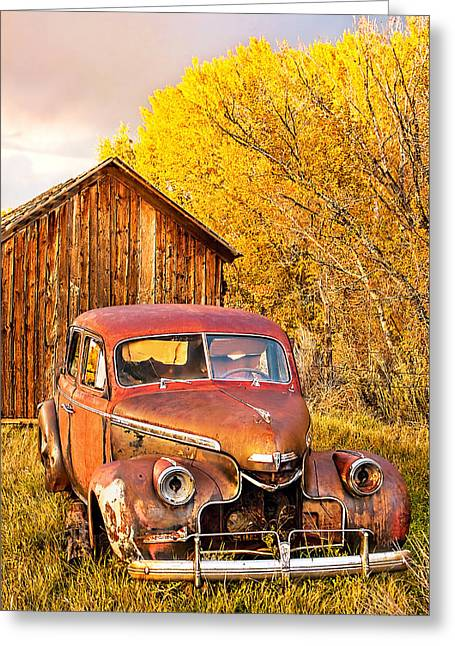 46 Chevy In The Weeds Greeting Card