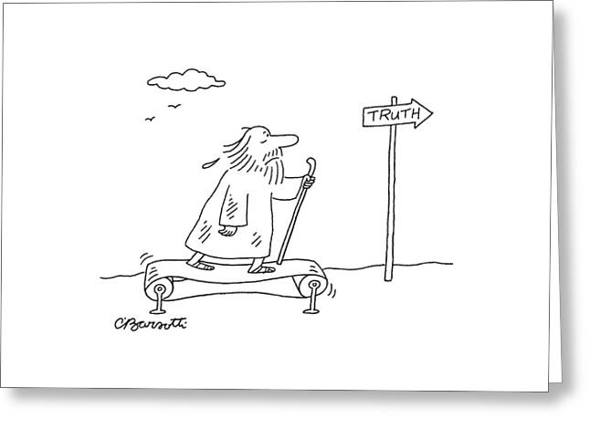 New Yorker April 16th, 2007 Greeting Card by Charles Barsotti