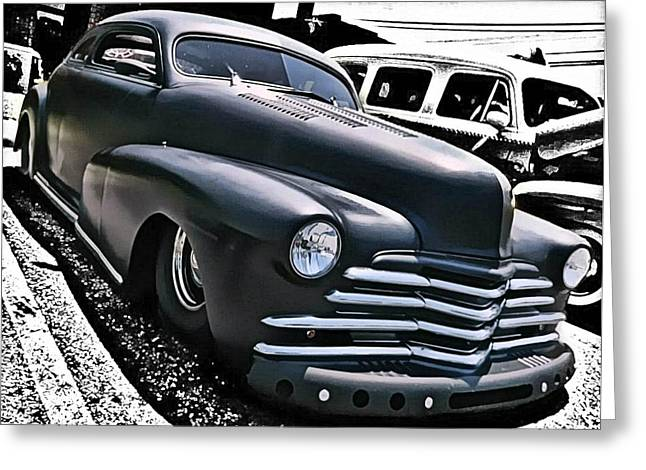 Greeting Card featuring the photograph '47 Chevy Lowrider by Victor Montgomery