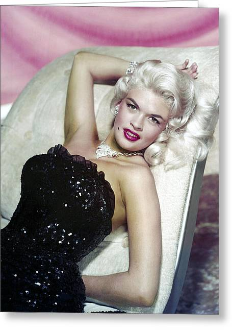 Jayne Mansfield Greeting Card by Silver Screen