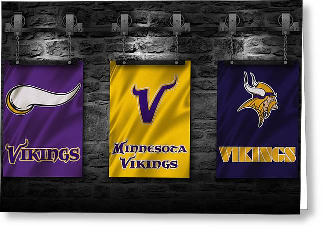 Minnesota Vikings Greeting Card by Joe Hamilton