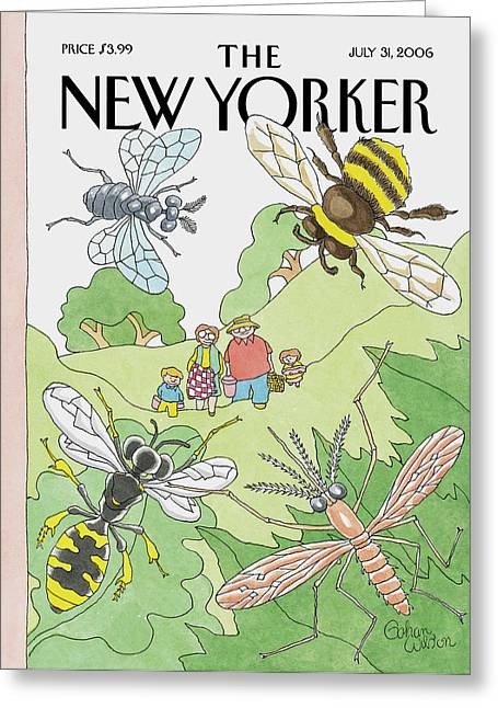 New Yorker July 31st, 2006 Greeting Card by Gahan Wilson