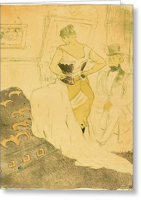 Henri De Toulouse-lautrec French, 1864 - 1901 Greeting Card by Quint Lox