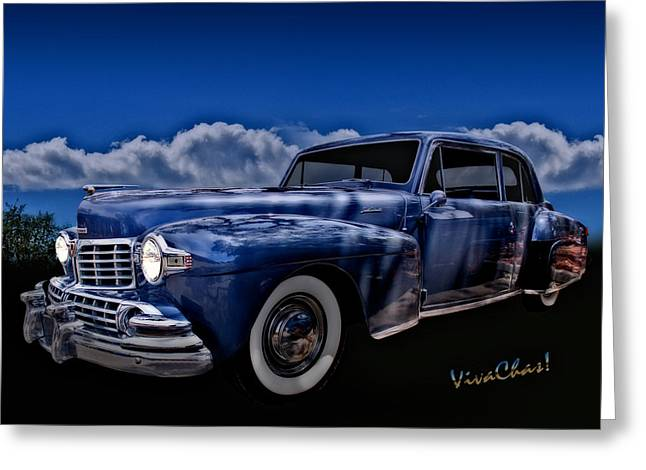 48 Lincoln Continental By Moonlight Greeting Card