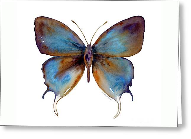 48 Manto Hypoleuca Butterfly Greeting Card by Amy Kirkpatrick