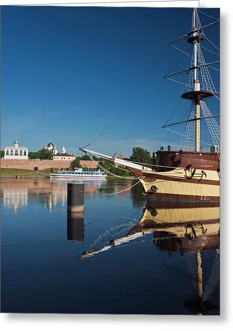 Russia, Novgorod Oblast, Veliky Greeting Card by Walter Bibikow