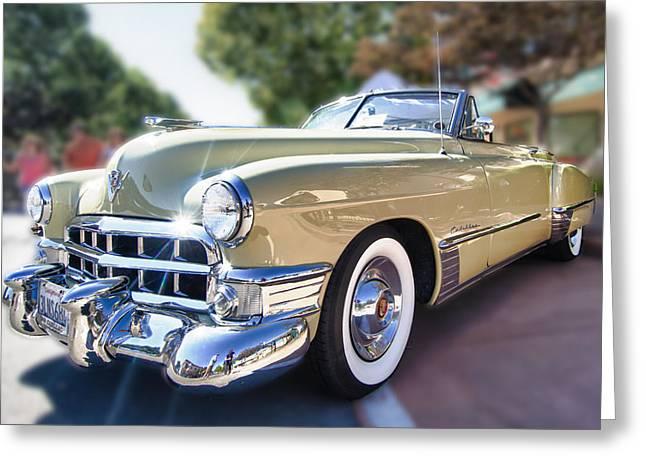 49 Cadillac Convertible Greeting Card by Robert Rus