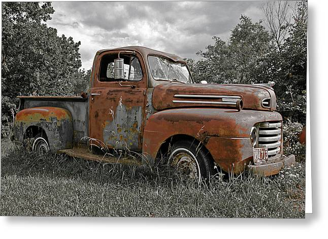 Greeting Card featuring the photograph '49 Ford Pick-up by Christopher McKenzie