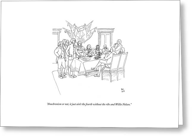 Anachronism Or Greeting Card by Paul Noth