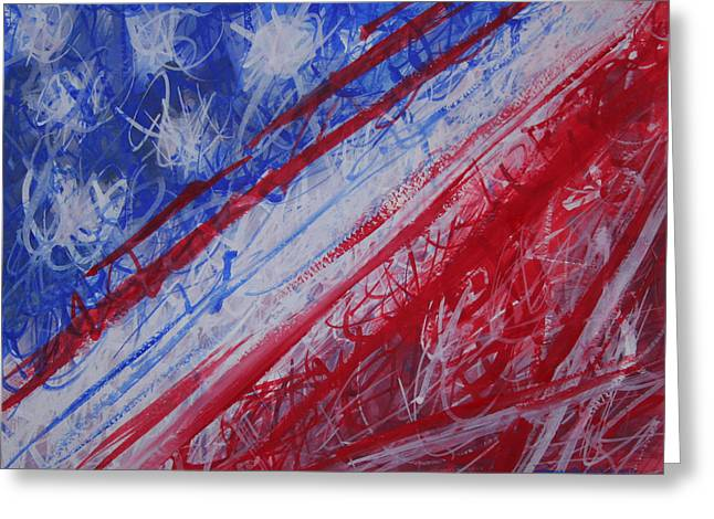 4th July Abstract Expressionism Greeting Card by Thomas Griffith