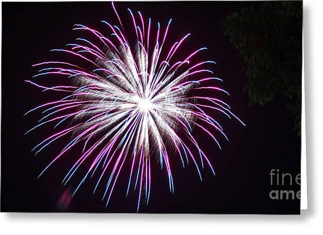 4th Of July 2014 Fireworks Bridgeport Hill Clarksburg Wv 5 Greeting Card