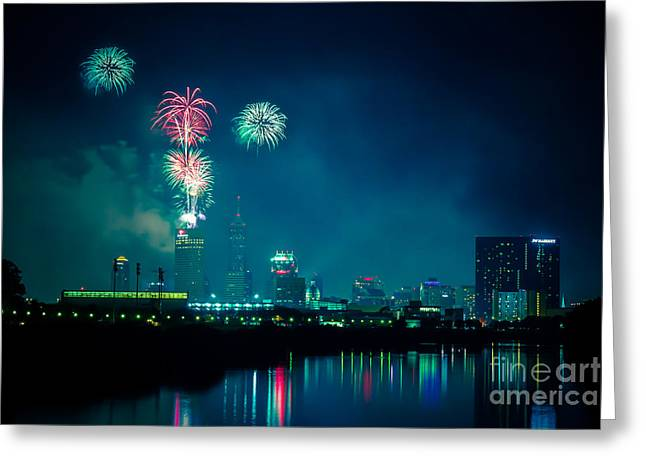 4th Of July At Indianapolis Greeting Card by Jose Sanchez