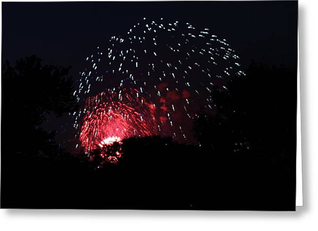 4th Of July Fireworks - 011316 Greeting Card