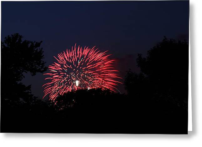 4th Of July Fireworks - 01136 Greeting Card by DC Photographer