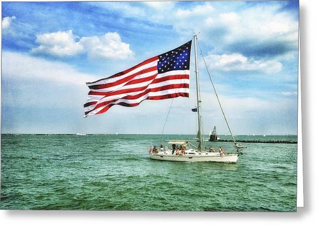 Greeting Card featuring the photograph 4th Of July - Navy Pier - Downtown Chicago by Photography  By Sai
