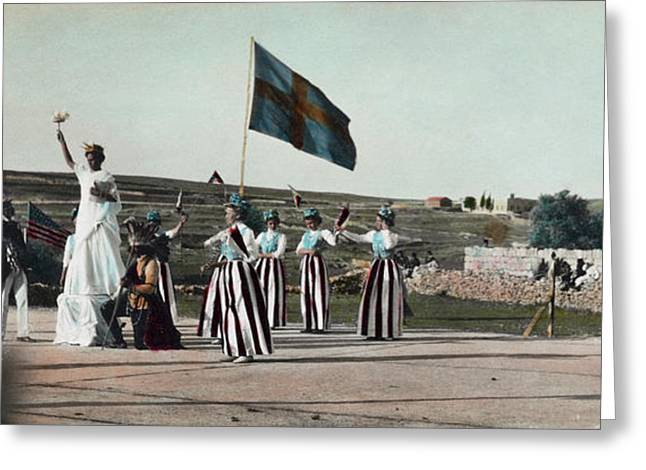 4th Of July Pageant, C1910 Greeting Card