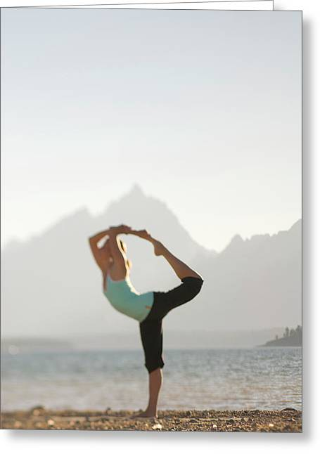 In harmony greeting cards page 10 of 41 fine art america a young woman practices yoga greeting card m4hsunfo