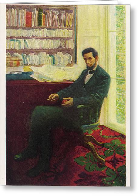 Abraham Lincoln (1809 - 1865) U Greeting Card by Mary Evans Picture Library