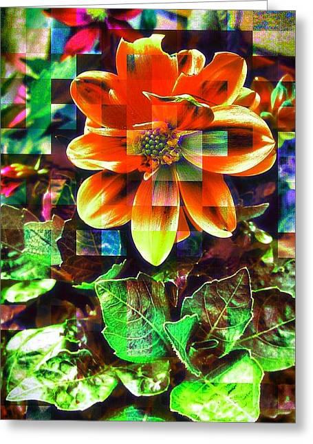Abstract Flowers Greeting Card by Chris Drake