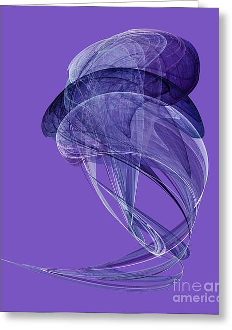 Abstract Futuristic Shape Greeting Card by Odon Czintos