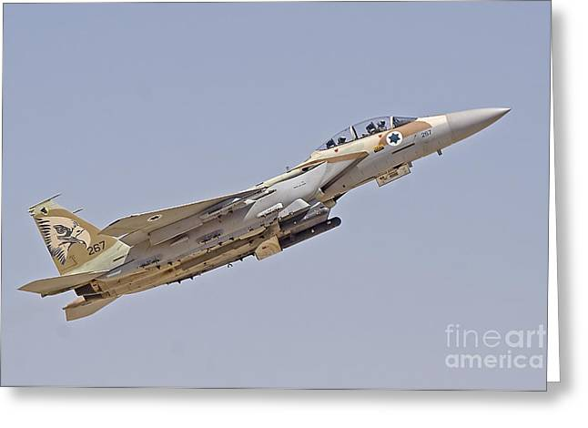 An F-15i Raam Of The Israeli Air Force Greeting Card by Ofer Zidon