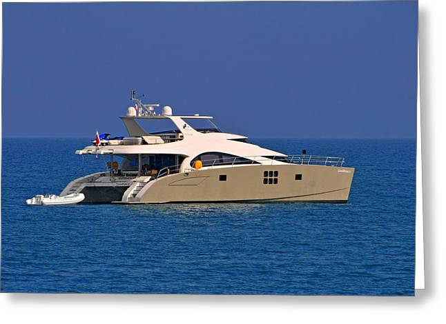 Antibes - Superyachts Of Billionaires Greeting Card