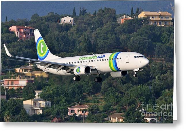 Approaching Corfu Airport Greeting Card