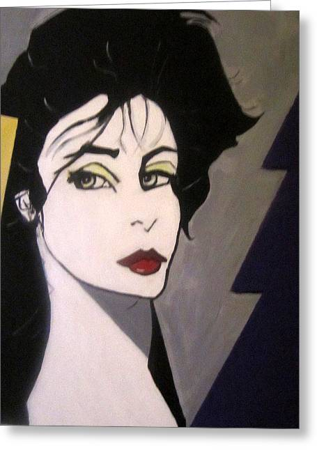 Greeting Card featuring the painting Art Deco by Nora Shepley