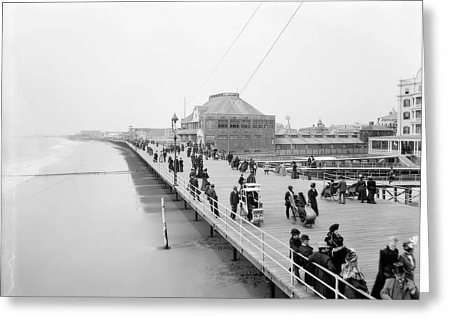 Atlantic City Boardwalk Greeting Card by Granger